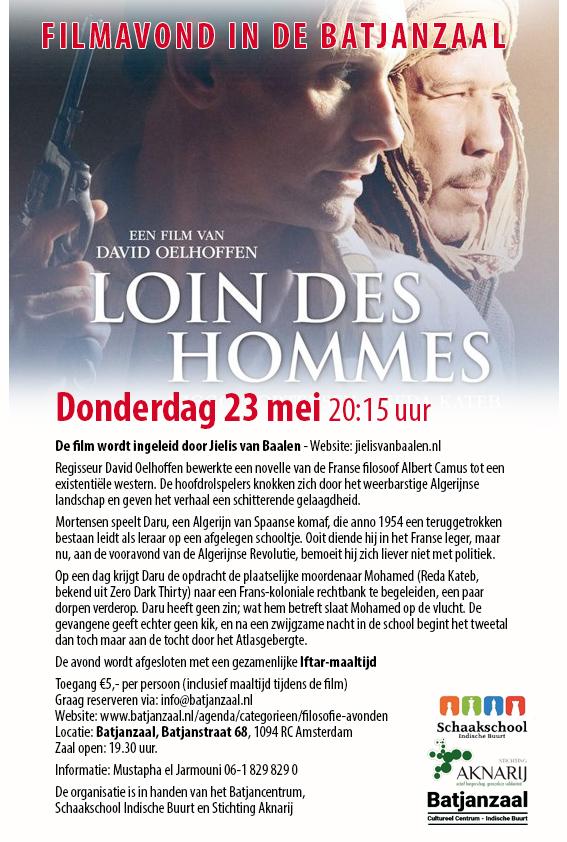 DONDERDAGAVOND 23 MEI FILMAVOND BATJANZAAL: LOIN DES HOMMES